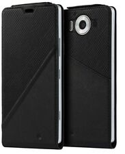 Mozo Microsoft Lumia 950 Qi Wireless Charging Note Flip Cover with NFC - Black
