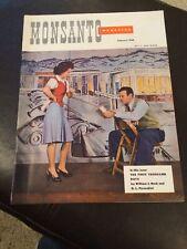 February 1946 Original Vintage Monsanto Chemicals & Plastics Industrial Magazine