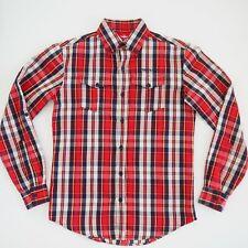 MOUNTAIN DESIGN Mens 'WANDERER' Flannel Shirt Reg Fit Long Sleeve Size S EUC