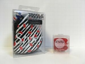 Tangle Teezer Compact Styler Lip Print & Invisibobble Red 3 Pack