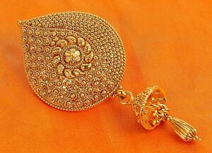 Hair Indian Pin Bun Gold Plated Bollywood Fashion Jewelry
