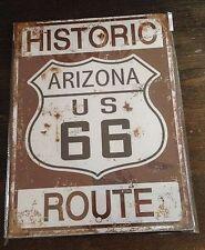 Historic Route 66 Nostalgie Blechschild 25 x 33 cm - Retro Shabby vintage