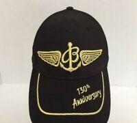 Breitling 130th Anniversary Black Gold Adjustable Strap Back Hat Cap