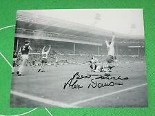 Alex Dawson FIRMATA RARA Preston NORTH End PNE 1964 Association Cup obiettivo finale Fotografia