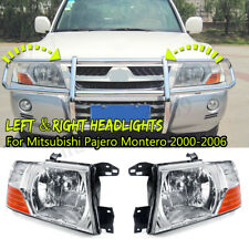 Left&Right Headlights Head Lamps Lights For Mitsubishi Pajero Montero 2000-2006