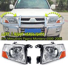 Left&Right Headlights Head Lamps Lights For Mitsubishi Pajero Montero 2000-2006