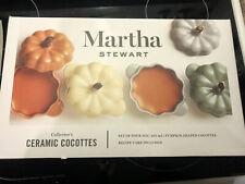 NIB Martha Stewart Collectors Ceramic 8 OZ Cocottes Pumpkin