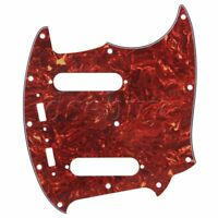 Brown Tortoise Shell 4ply Pickguard Scratch Plate for Mustang Guitar