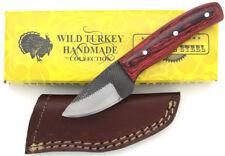 Wild Turkey Handmade Full Tang Real File Skinner Knife w/ Leather Sheath