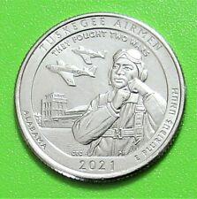 2021-P 25C Tuskegee Airmen Alabama National Park America the Beautiful Quarter