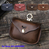 Leather Bag Bluetooth Earphone Protective Cover Storage Case for Sony WF-1000XM3