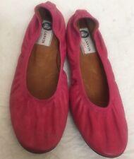 Lanvin Shoe Pink Leather Flat Size 38 Fits Size 7- 71/2