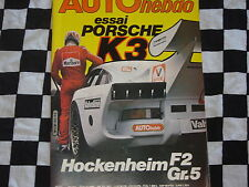 auto hebdo n°211 1980 PORSCHE 935 K3 KREMER / SAFARI / HOCKENHEIM GR.5 + F2