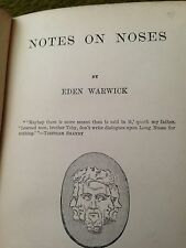notes on - noses ! by eden warwick 1893