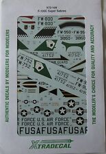 Xtradecal 1/72 X72109 F-100C super sabre (usaf/us ang) decal set