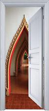 Sticker porte trompe l'oeil déco porte palais orientale 90x200 cm réf 2139
