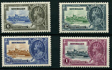 Seychelles SG128-131 1935 Silver Jubilee with possible unlisted varieties Mount