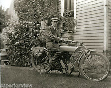 Curtiss Motorcycle Side View Fender Bags Camera Bag From Glass Negative 1920