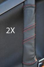 FITS VECTRA C 2X DOOR HANDLE COVERS red stitch