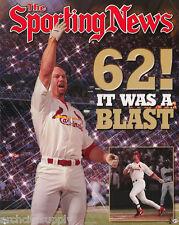 LOT OF 2 POSTERS: MLB BASEBALL: MARK McGWIRE - 62 HOMERS     #ML182   LC14 M