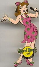 "Hard Rock Cafe SAN DIEGO 2001 ""Street Scene"" Singer PIN Girl in Pink Dress NEW!"