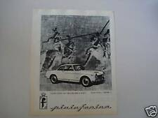 advertising Pubblicità 1961 FIAT COUPE' 1500 PININF