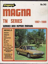 MITSUBISHI MAGNA TN SERIES SERVICE & REPAIR WORKSHOP MANUAL 1987 - 1989