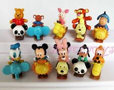 Winnie The Pooh & Mickey Mouse Mini Trojan Figure Toys Zoo Set of 10pcs #B AU