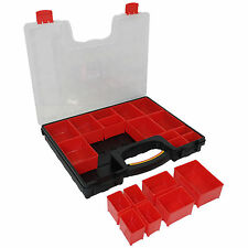 20 Compartment Professional Tool Organiser Case Box Storage Screw Nail Nut Bolt
