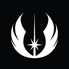 JEDI Emblem Star Wars VII 7 1 2 3 Bumper Sticker Window Car Truck Decal Vinyl