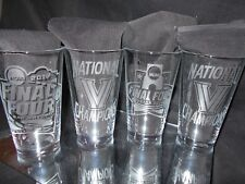 2016 2018 FINAL FOUR NATIONAL CHAMPION VILLANOVA WILDCATS ETCHED PINT GLASSES 4
