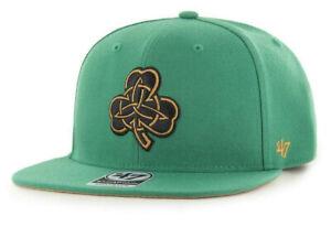BOSTON CELTICS NBA GREEN FLAT BILL SNAPBACK CITY EDITION CAP HAT NEW! '47 BRAND