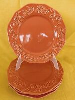 Better Homes Summerdale Rose Dried Peach DINNER PLATE 1 of 4 available - orange