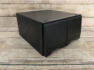 Black Ash Wood Effect CD Media Storage Case Drawers Retro Holds 40 CDs Used