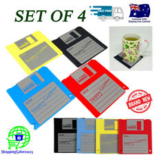 NEW Retro Floppy Disk Silicone Coaster Set of 4 Durable Heat Resistance NonSlip