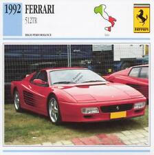 1992 FERRARI 512 TR Classic Car Photo/Info Maxi Card