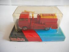 Litteltois (Norev Minijet) Volvo F89 Fire Truck in Red/Orange in Box