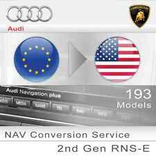 Audi RNS-E Navigation Europe to USA conversion Service 193 Gen 2 Glossy Screen
