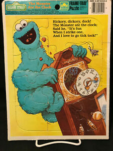 Sesame Street Golden The Monster Ate the Clock Cookie Monster Puzzle