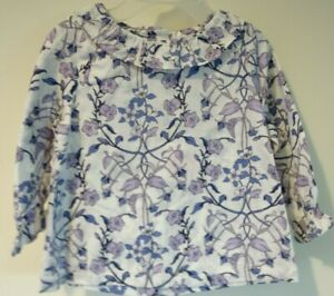 NWT Janie and Jack Fancies Of Fall Purple Floral Top Size 6-12 Month