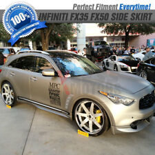 Fits 09-Up Infiniti FX35 FX50 Side Skirts Extension LH RH 2PC - PU Poly Urethane