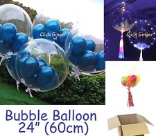 "Bubble Transparent Clear Round Balloon Giant 24"" 60cm Wedding Decoration"