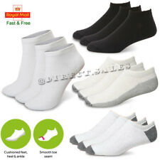 Womens Kids Soft Cushioned INVISIBLE Cotton Ankle Trainer Sports GYM Socks lot