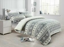 Teddy Bear Fleece Nordic Duvet Quilt Cover Soft Christmas Winter Bedding Set