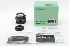 [ MINT ]  Voigtlander NOKTON Classic  40mm  F/1.4  Free/S  from Japan  #8141