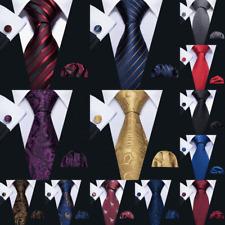 Corbata Para Hombre Set Corbata Seda De Oro Rojo Negro Azul Pañuelo Gemelos Boda Barry Wang