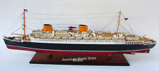 "SS Europa Ocean Liner Ship Model 37"" - Handmade Wooden Ship Model Scale 1:300"