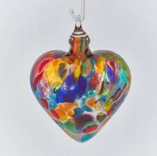 FIESTA~Classic Heart Ornament by Glass Eye Studio~Made In USA~1605OCH