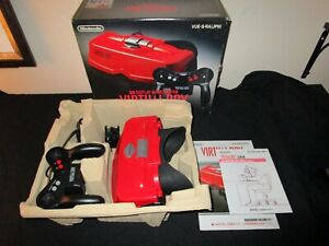 Nintendo Virtual Boy Console Complete in Box Tested Fully Functional Hardly Used