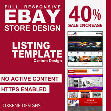 eBay Store Shop Listing Template HTML Mobile Responsive Design 2017 Compliant